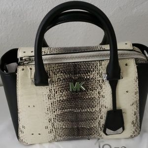 Michael kors mini nolita snake embossed leather